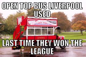 OPEN TOP BUS USED BY L.POOL LAST TIME THEY WON THE LEAGUE
